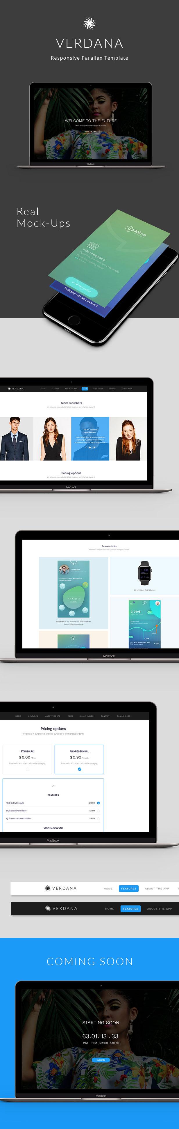 Verdana - Responsive App Landing Template - 1